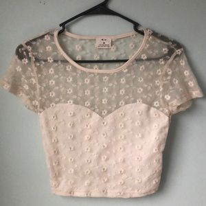 Urban Outfitters flower lace crop top
